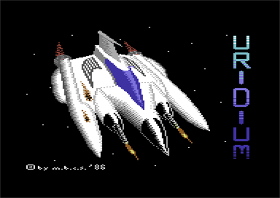 Uridium Commodore 64 Screenshot Loading Screens
