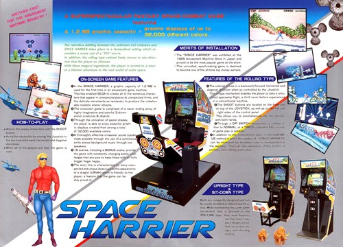 Space Harrier Flyer 02