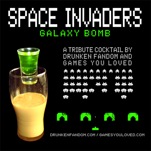 Space Invaders Galaxy Bomb Cocktail