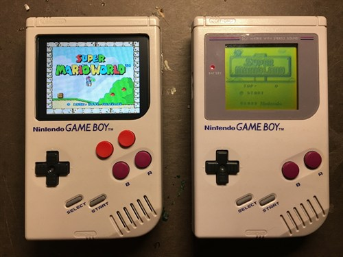 Hacked Game Boy Raspberry Pi 3