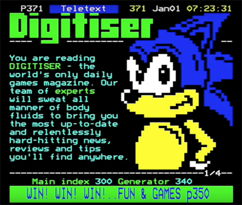 Sonic The Hedgehog Digitiser