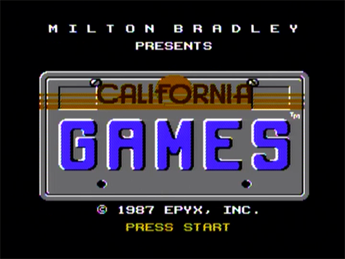 Ca Games Intro Screen